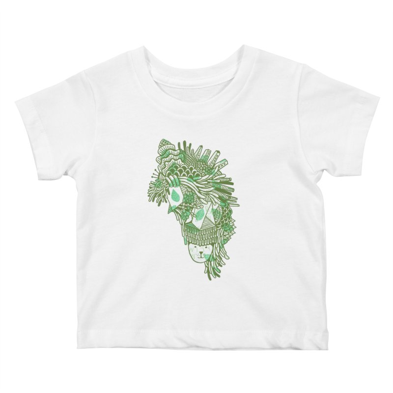 Vegetation Kids Baby T-Shirt by The Babybirds