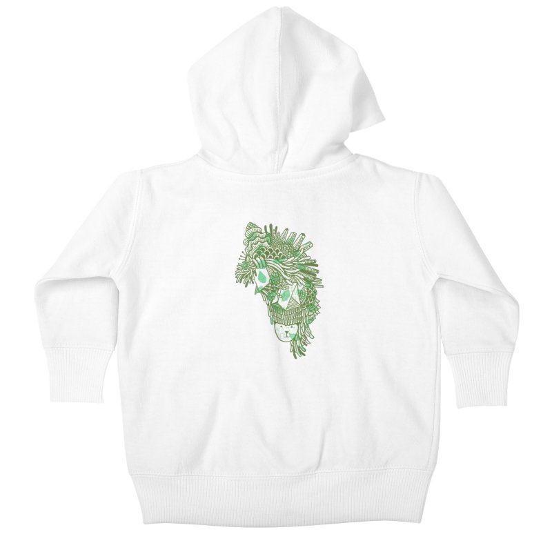 Vegetation Kids Baby Zip-Up Hoody by The Babybirds