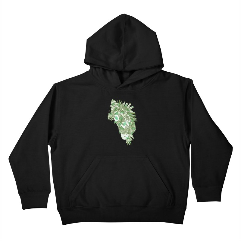Vegetation Kids Pullover Hoody by The Babybirds