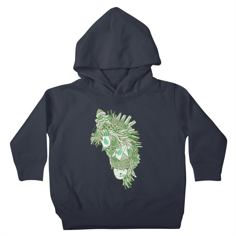 Vegetation Kids Toddler Pullover Hoody by The Babybirds