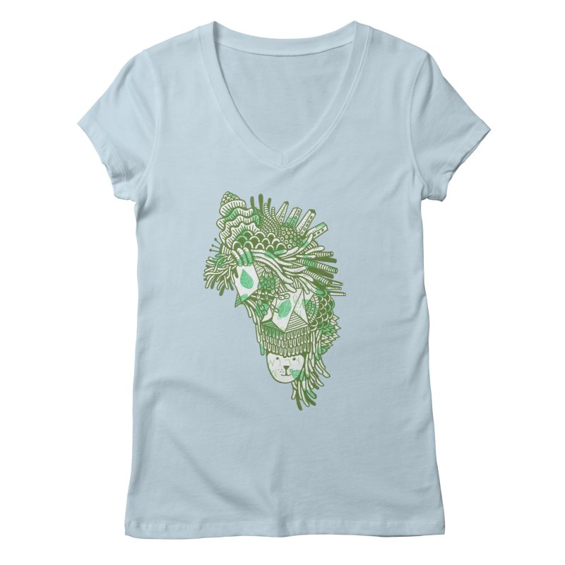 Vegetation Women's V-Neck by The Babybirds
