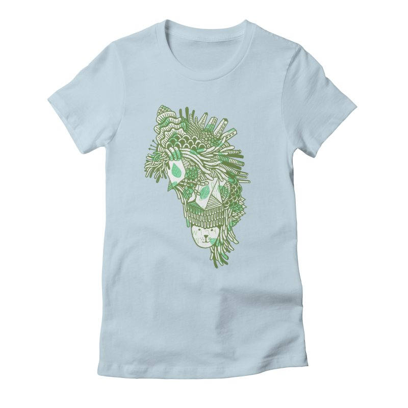 Vegetation Women's Fitted T-Shirt by The Babybirds