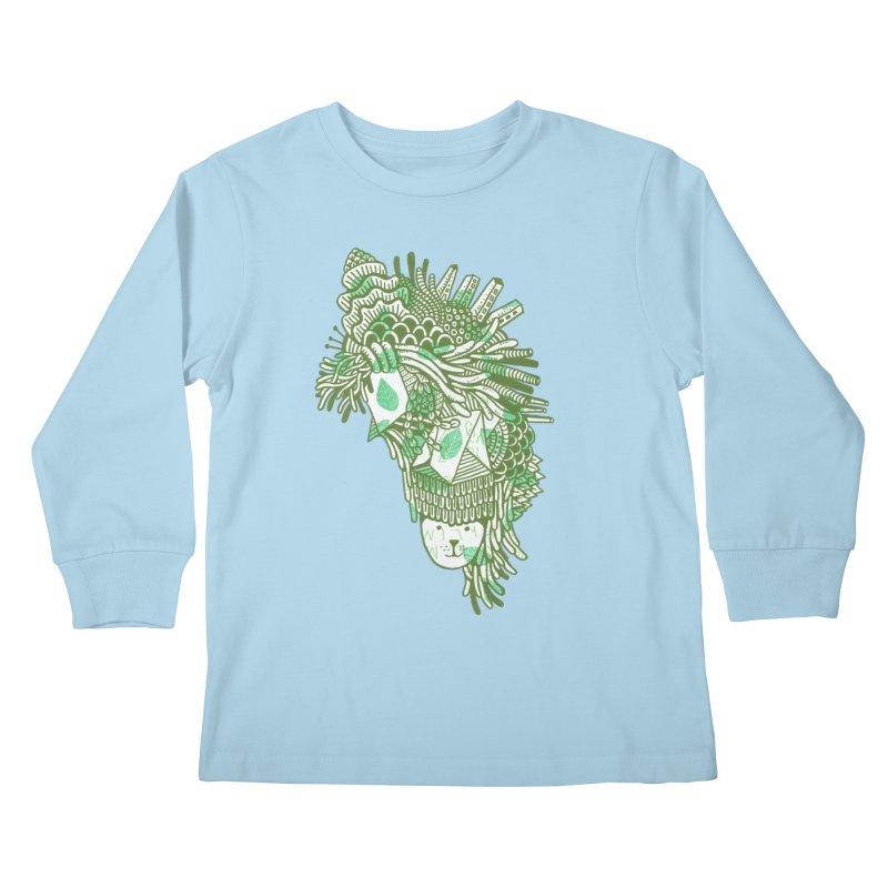 Vegetation Kids Longsleeve T-Shirt by The Babybirds