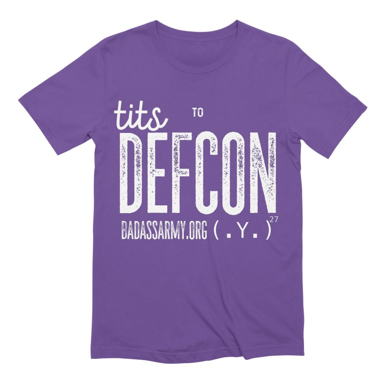 Tits to DEFCON- WHITE WRITING Men's Extra Soft T-Shirt by thebadassarmy's Artist Shop