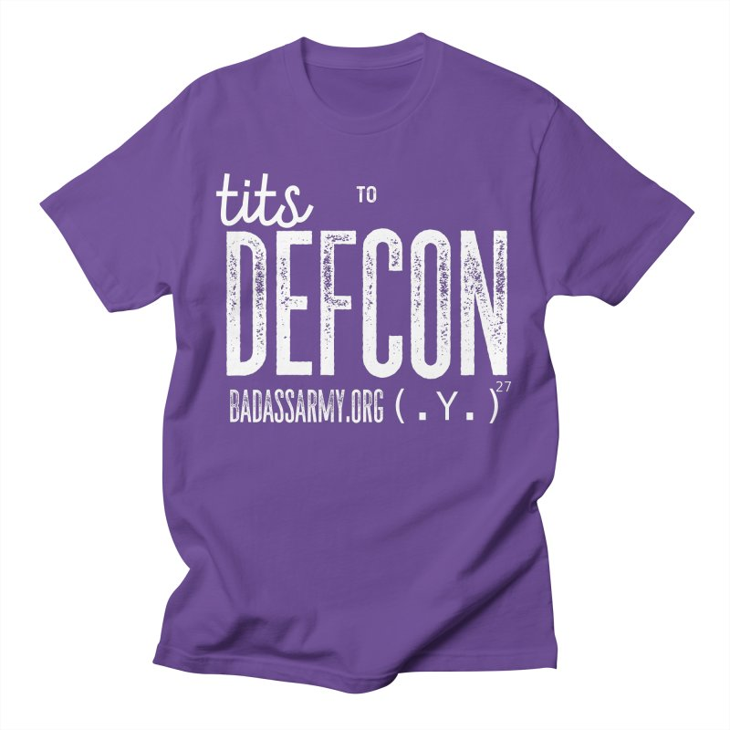 Tits to DEFCON- WHITE WRITING Men's Regular T-Shirt by thebadassarmy's Artist Shop