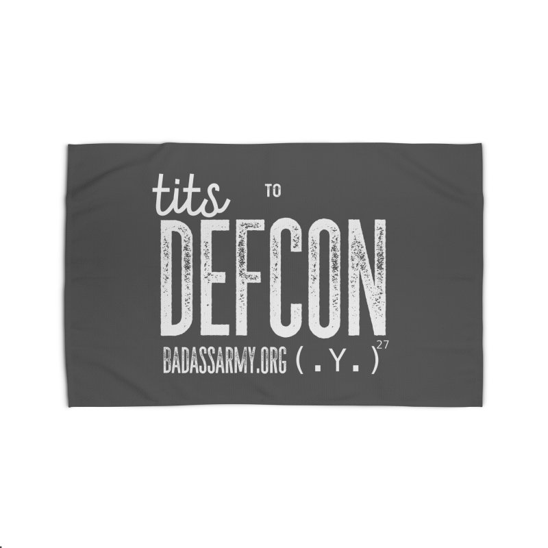 Tits to DEFCON- WHITE WRITING Home Rug by thebadassarmy's Artist Shop