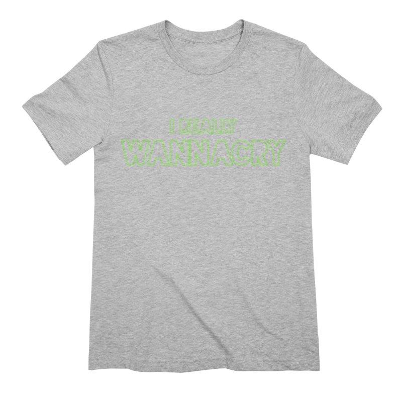 I really wannacry Men's Extra Soft T-Shirt by thebadassarmy's Artist Shop