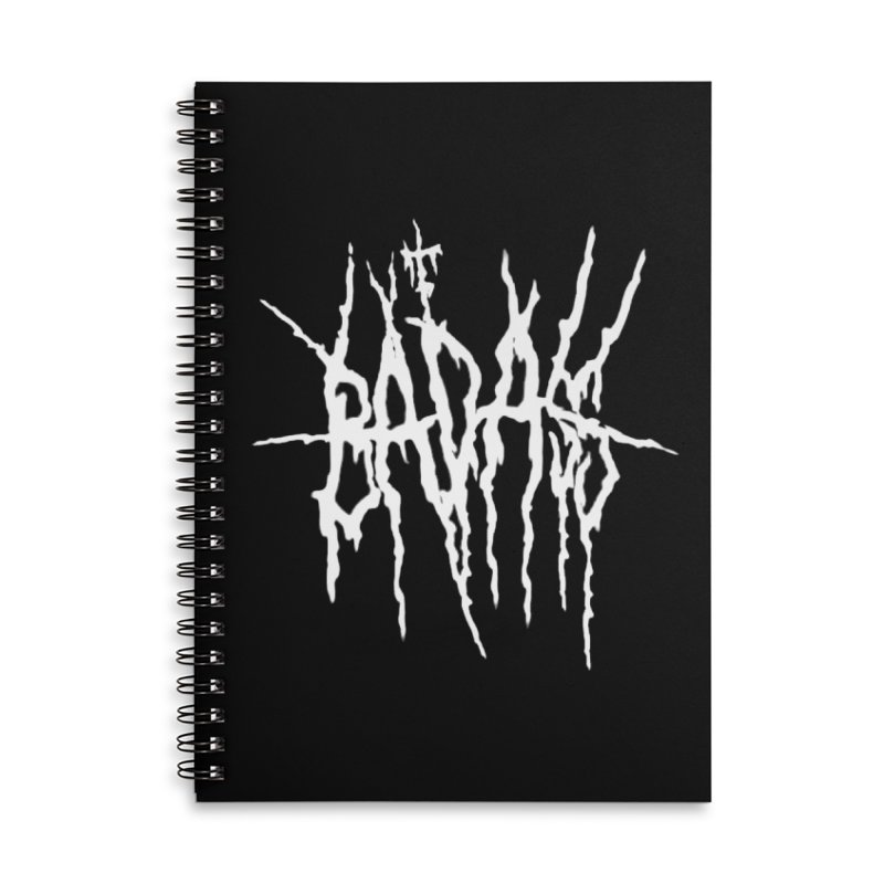 Badass Metal Logo Accessories Notebook by The Badass Army Shop