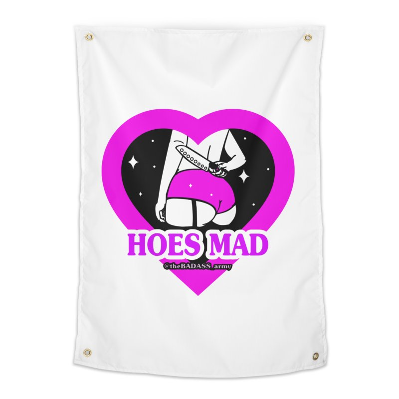 Hoes Mad Home Tapestry by The Badass Army Shop