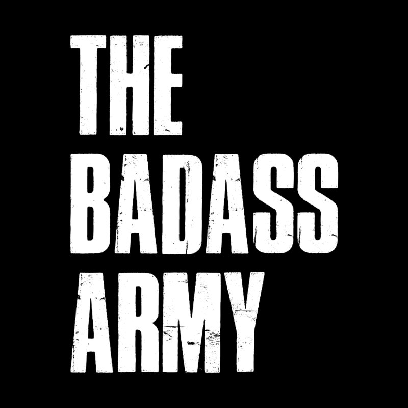 BADASS Logo  White Men's Zip-Up Hoody by thebadassarmy's Artist Shop