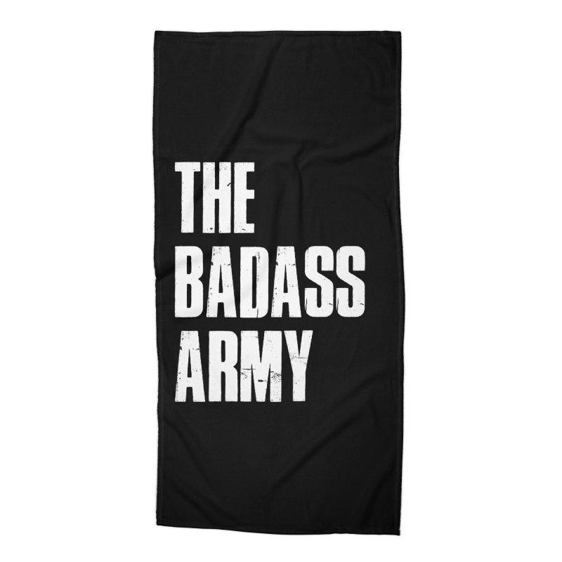 BADASS Logo  White Accessories Beach Towel by The Badass Army Shop