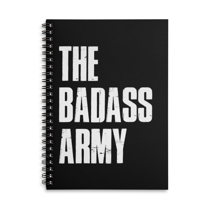 BADASS Logo  White Accessories Notebook by thebadassarmy's Artist Shop