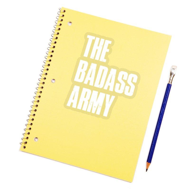 BADASS Logo  White Accessories Sticker by The Badass Army Shop