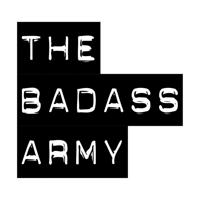 BADASS Block Logo Black Accessories Phone Case by The Badass Army Shop