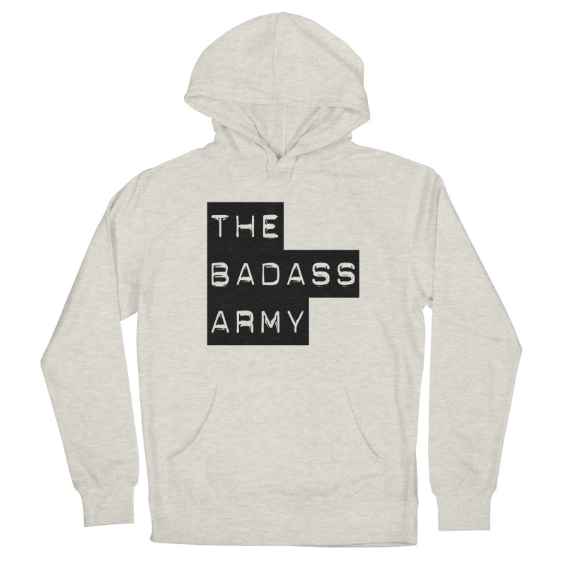 BADASS Block Logo Black Men's Pullover Hoody by The Badass Army Shop
