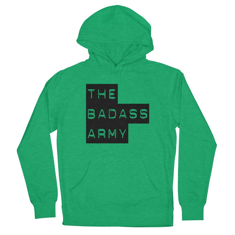 BADASS Block Logo Black Men's French Terry Pullover Hoody by The Badass Army Shop