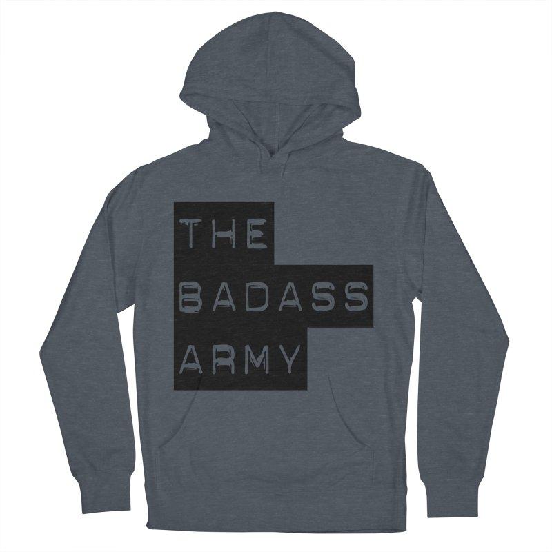 BADASS Block Logo Black Women's French Terry Pullover Hoody by thebadassarmy's Artist Shop