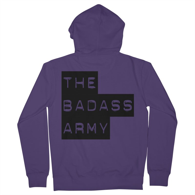 BADASS Block Logo Black Women's Zip-Up Hoody by The Badass Army Shop