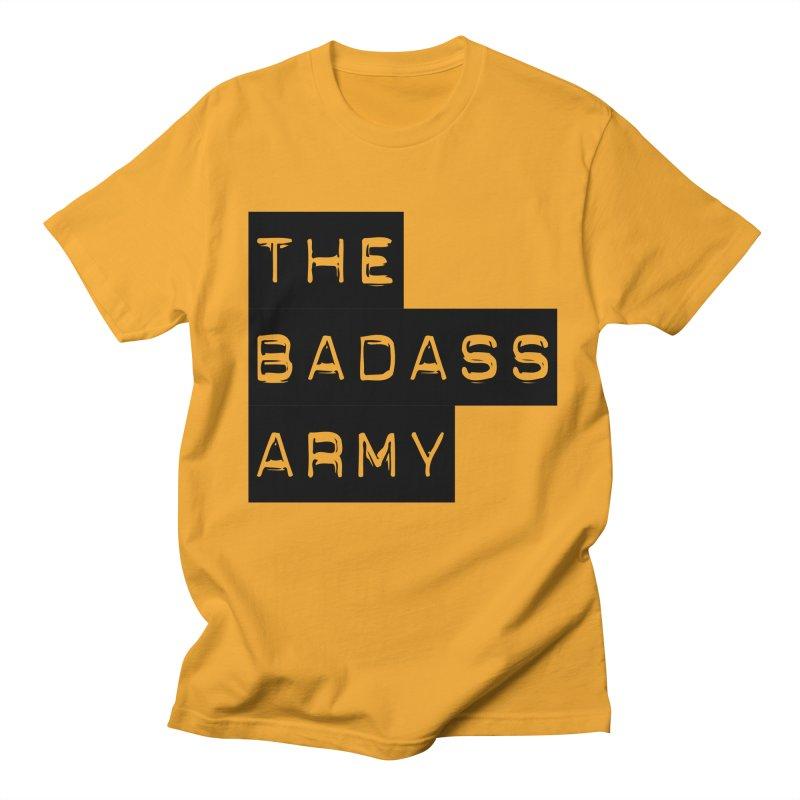 BADASS Block Logo Black Men's Regular T-Shirt by thebadassarmy's Artist Shop