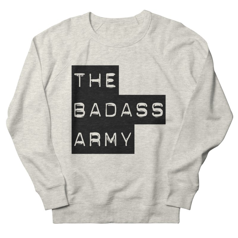 BADASS Block Logo Black Women's French Terry Sweatshirt by thebadassarmy's Artist Shop
