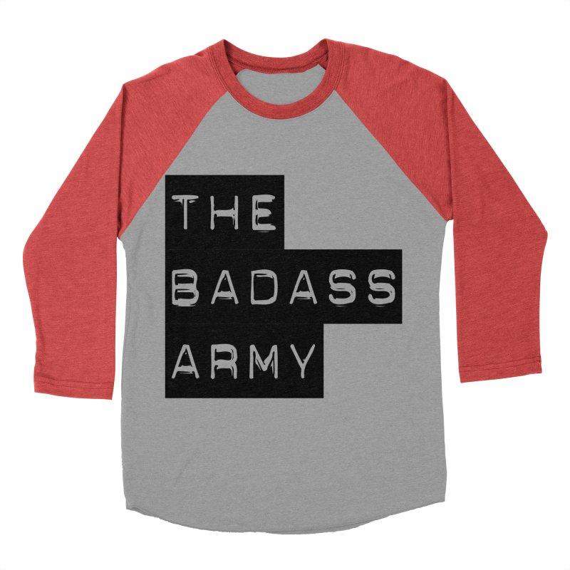 BADASS Block Logo Black Women's Baseball Triblend Longsleeve T-Shirt by thebadassarmy's Artist Shop