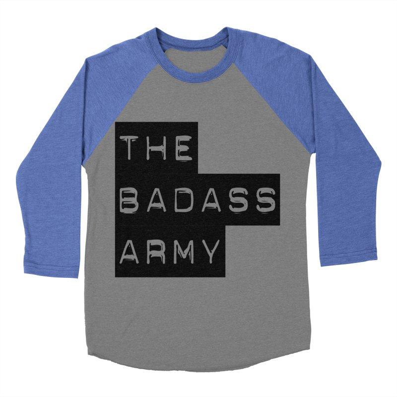 BADASS Block Logo Black Men's Baseball Triblend Longsleeve T-Shirt by thebadassarmy's Artist Shop