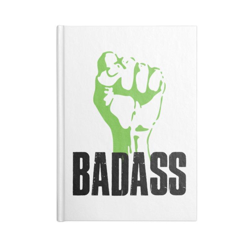 BADASS Accessories Lined Journal Notebook by thebadassarmy's Artist Shop