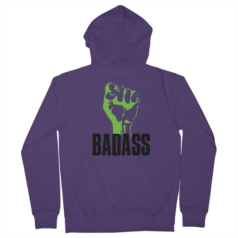 BADASS Women's Zip-Up Hoody by thebadassarmy's Artist Shop