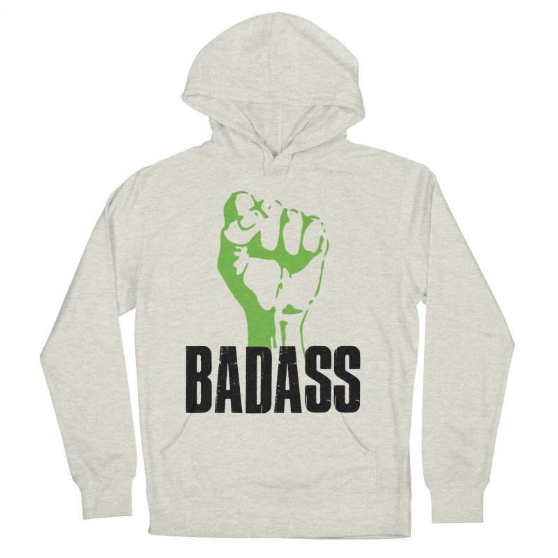 BADASS Men's French Terry Pullover Hoody by thebadassarmy's Artist Shop