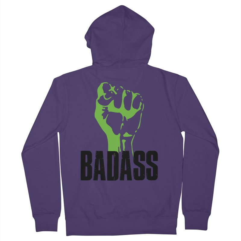 BADASS Women's French Terry Zip-Up Hoody by thebadassarmy's Artist Shop