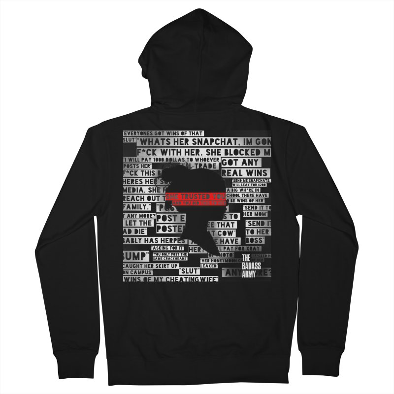 She Trusted You Men's French Terry Zip-Up Hoody by thebadassarmy's Artist Shop