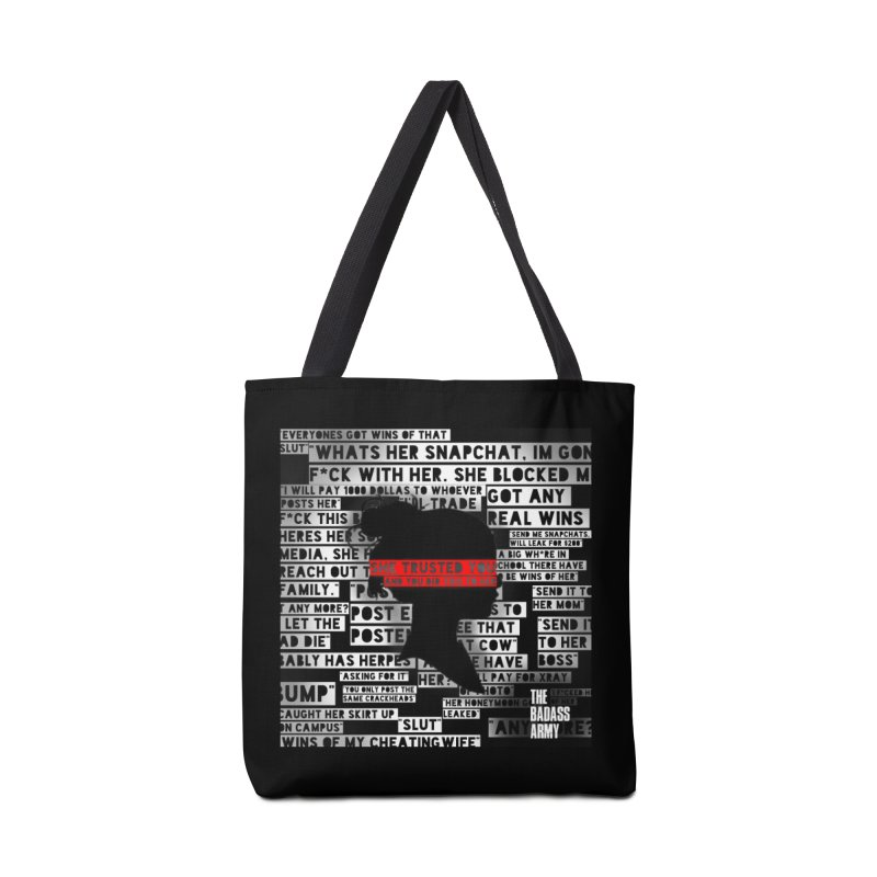 She Trusted You Accessories Tote Bag Bag by thebadassarmy's Artist Shop