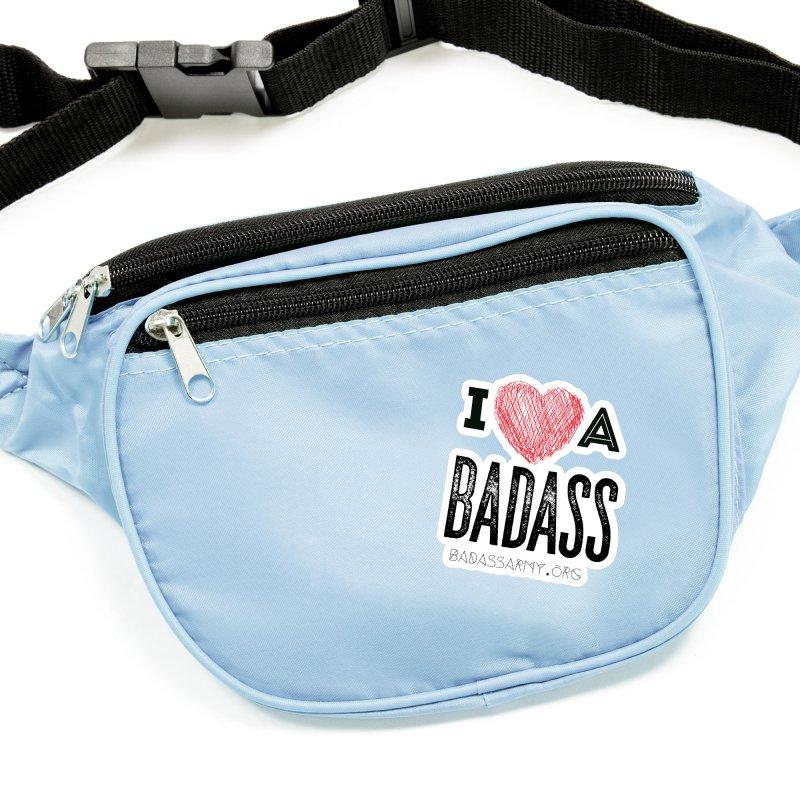 I <3 a Badass Accessories Sticker by thebadassarmy's Artist Shop