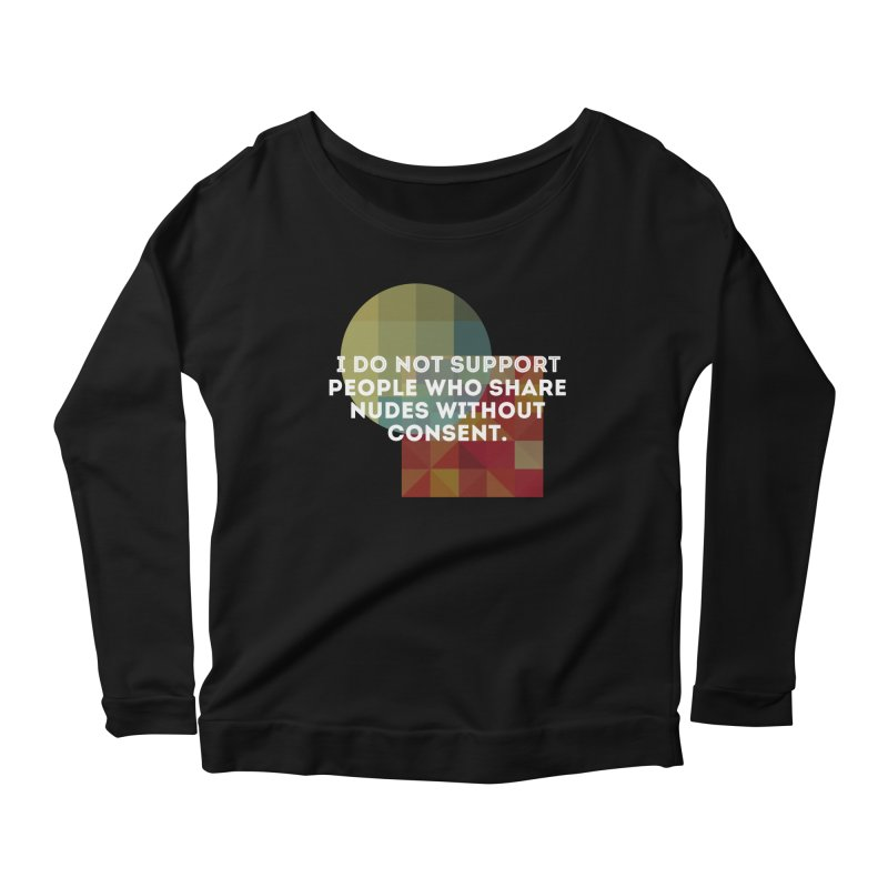 Things I Don't Support Women's Scoop Neck Longsleeve T-Shirt by thebadassarmy's Artist Shop