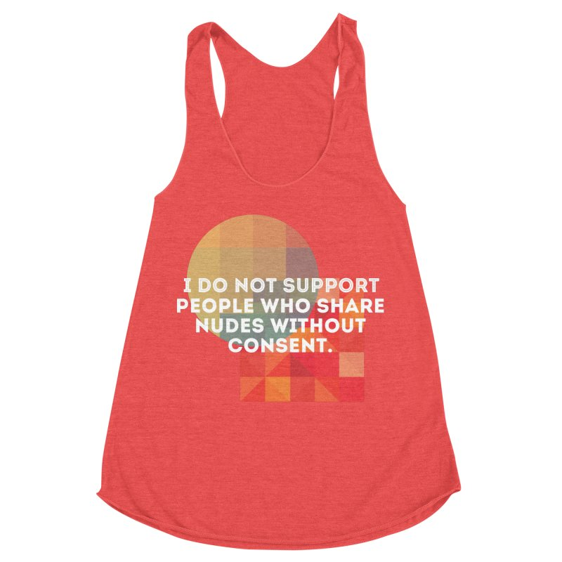 Things I Don't Support Women's Racerback Triblend Tank by thebadassarmy's Artist Shop
