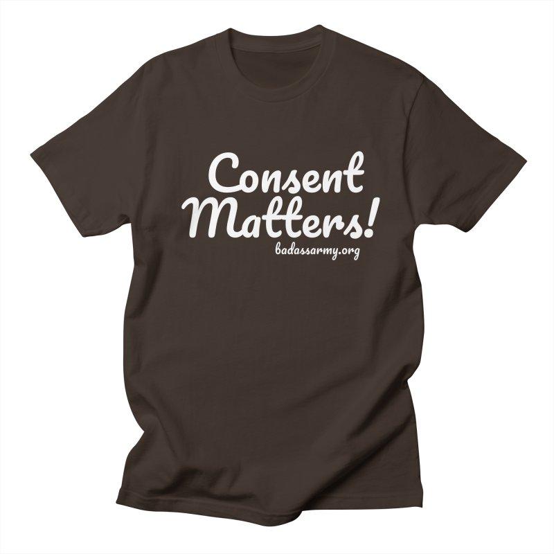 Consent Matters! Men's Regular T-Shirt by thebadassarmy's Artist Shop