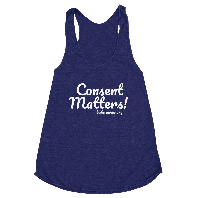 Consent Matters! Women's Racerback Triblend Tank by The Badass Army Shop