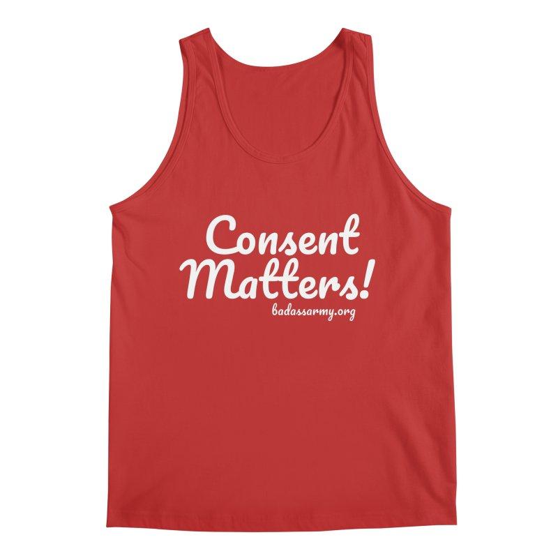 Consent Matters! Men's Regular Tank by The Badass Army Shop