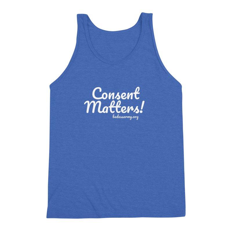 Consent Matters! Men's Triblend Tank by thebadassarmy's Artist Shop