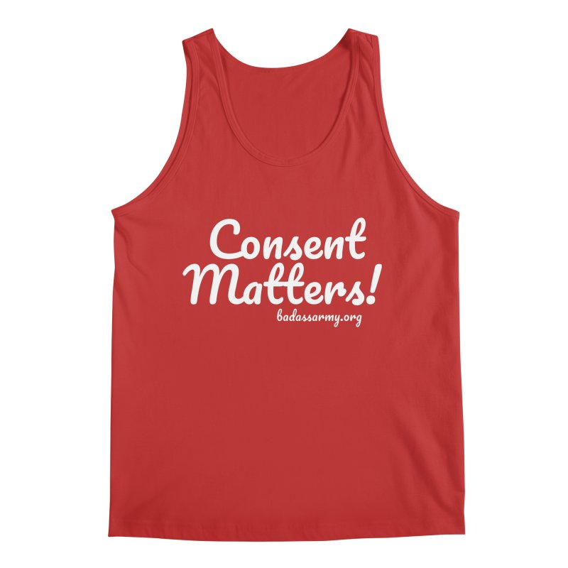 Consent Matters! Men's Regular Tank by thebadassarmy's Artist Shop