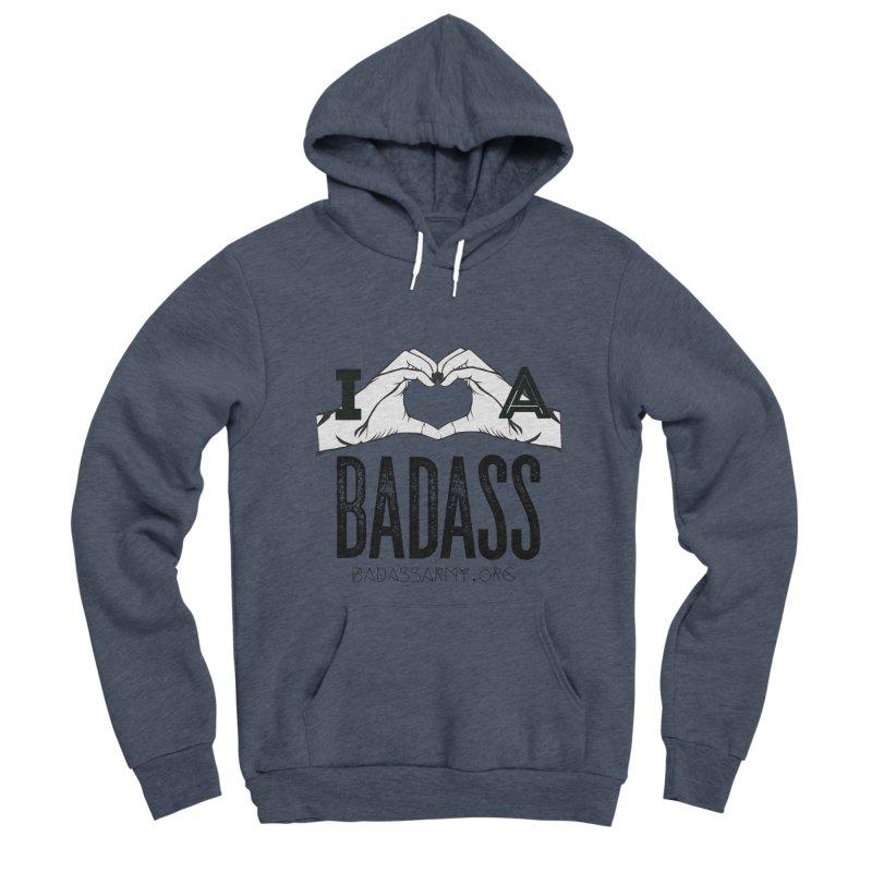 Badass Hand Heart Men's Sponge Fleece Pullover Hoody by thebadassarmy's Artist Shop