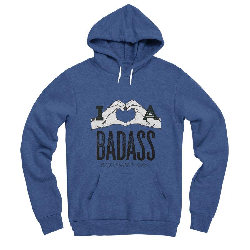 Badass Hand Heart Women's Sponge Fleece Pullover Hoody by thebadassarmy's Artist Shop