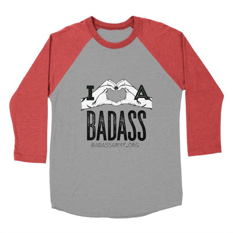 Badass Hand Heart Men's Baseball Triblend Longsleeve T-Shirt by thebadassarmy's Artist Shop