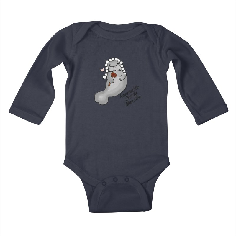 Honorable Sandy Manatee Kids Baby Longsleeve Bodysuit by The Badass Army Shop