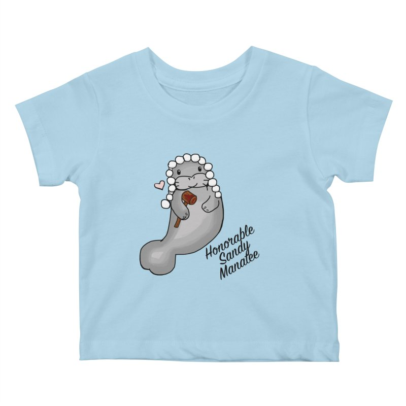 Honorable Sandy Manatee Kids Baby T-Shirt by thebadassarmy's Artist Shop