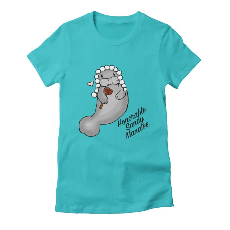 Honorable Sandy Manatee Women's Fitted T-Shirt by thebadassarmy's Artist Shop