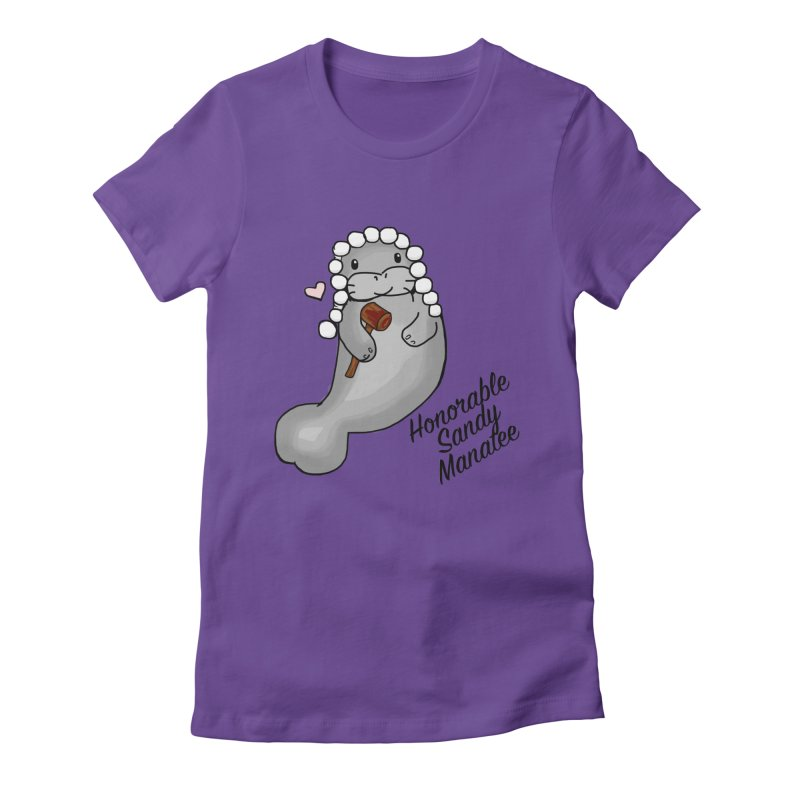 Honorable Sandy Manatee Women's Fitted T-Shirt by The Badass Army Shop