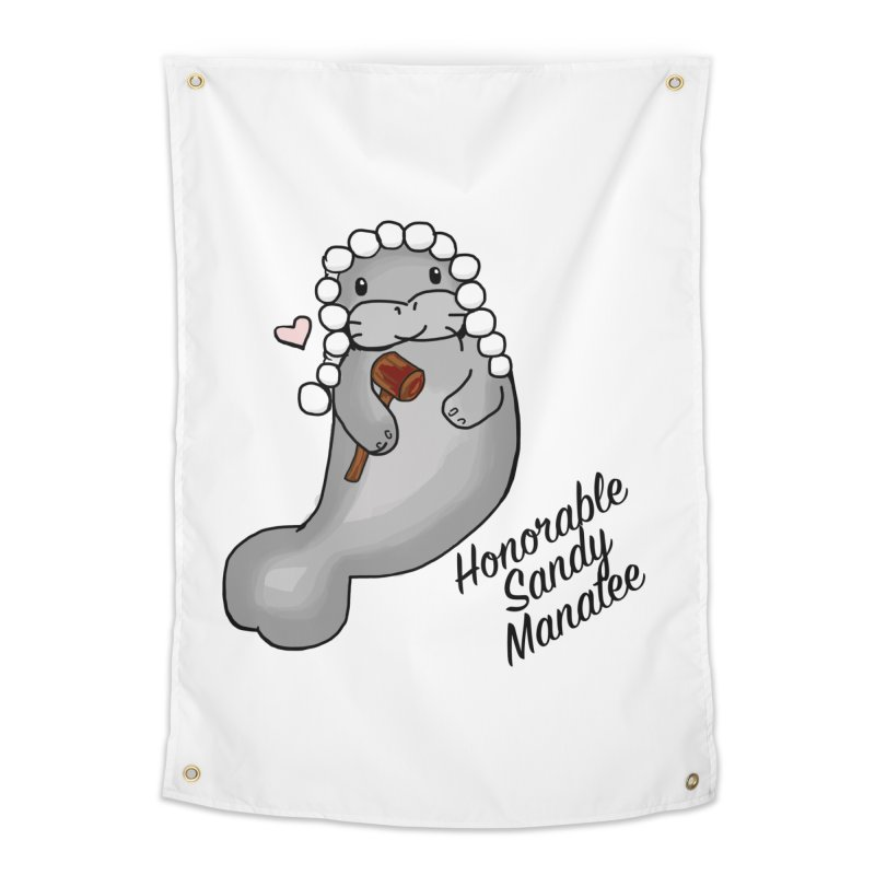 Honorable Sandy Manatee Home Tapestry by The Badass Army Shop