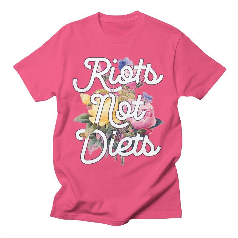 Riots Not Diets Men's T-Shirt by BadNewsB