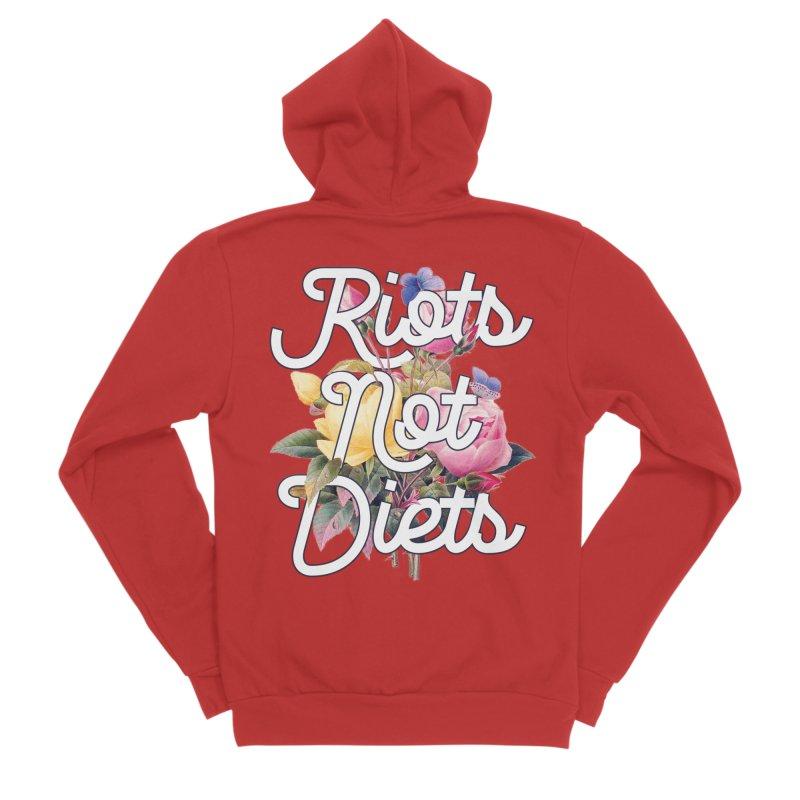 Riots Not Diets Men's Zip-Up Hoody by BadNewsB